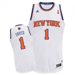 New York Knicks Alexey Shved #1 Home Swingman Maillot d'équipe de NBA - Blanc pour Homme