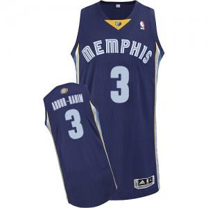 Maillot NBA Authentic Shareef Abdur-Rahim #3 Memphis Grizzlies Road Bleu marin - Homme
