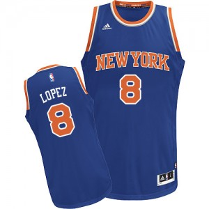 Maillot Swingman New York Knicks NBA Road Bleu royal - #8 Robin Lopez - Enfants