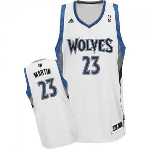 Minnesota Timberwolves #23 Adidas Home Blanc Swingman Maillot d'équipe de NBA Vente - Kevin Martin pour Homme