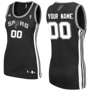 Maillot NBA Noir Swingman Personnalisé San Antonio Spurs Road Femme Adidas