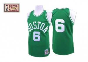 Maillot Mitchell and Ness Vert Throwback Authentic Boston Celtics - Bill Russell #6 - Homme