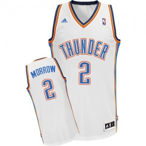 Maillot Adidas Blanc Home Swingman Oklahoma City Thunder - Anthony Morrow #2 - Homme