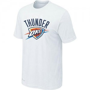 T-Shirts NBA Oklahoma City Thunder Blanc Big & Tall - Homme