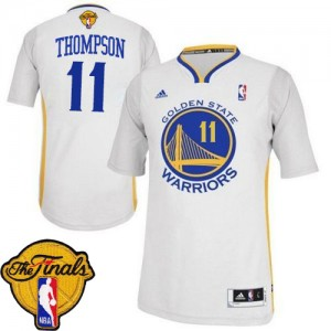 Maillot NBA Blanc Klay Thompson #11 Golden State Warriors Alternate 2015 The Finals Patch Swingman Femme Adidas