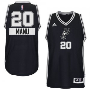 Maillot NBA Authentic Manu Ginobili #20 San Antonio Spurs 2014-15 Christmas Day Noir - Homme