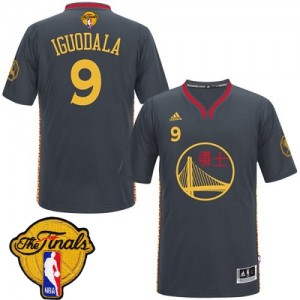 Maillot Swingman Golden State Warriors NBA Slate Chinese New Year 2015 The Finals Patch Noir - #9 Andre Iguodala - Homme