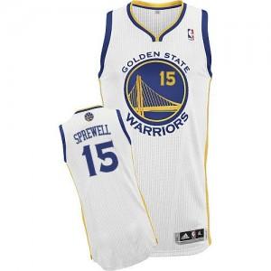 Golden State Warriors #15 Adidas Home Blanc Authentic Maillot d'équipe de NBA Expédition rapide - Latrell Sprewell pour Homme
