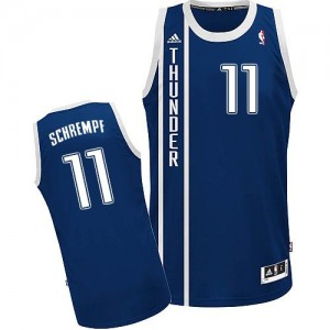 Oklahoma City Thunder Detlef Schrempf #11 Alternate Swingman Maillot d'équipe de NBA - Bleu marin pour Homme