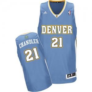 Maillot NBA Denver Nuggets #21 Wilson Chandler Bleu clair Adidas Swingman Road - Homme