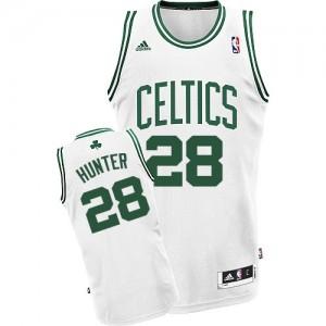 Boston Celtics #28 Adidas Home Blanc Swingman Maillot d'équipe de NBA pas cher - R.J. Hunter pour Homme