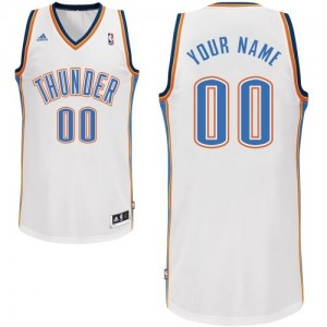 Maillot NBA Swingman Personnalisé Oklahoma City Thunder Home Blanc - Homme