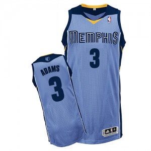 Memphis Grizzlies Jordan Adams #3 Alternate Authentic Maillot d'équipe de NBA - Bleu clair pour Homme