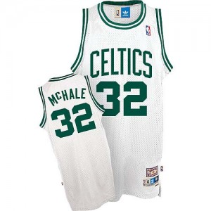 Maillot NBA Boston Celtics #32 Kevin Mchale Blanc Mitchell and Ness Authentic Throwback - Homme
