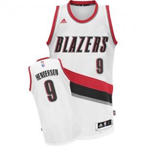 Portland Trail Blazers Gerald Henderson #9 Home Swingman Maillot d'équipe de NBA - Blanc pour Homme