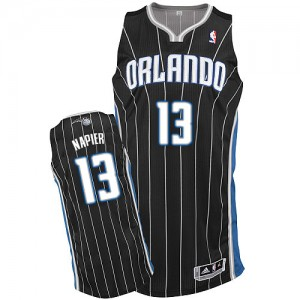 Maillot NBA Orlando Magic #13 Shabazz Napier Noir Adidas Authentic Alternate - Homme