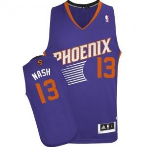 Phoenix Suns #13 Adidas Road Violet Swingman Maillot d'équipe de NBA magasin d'usine - Steve Nash pour Homme