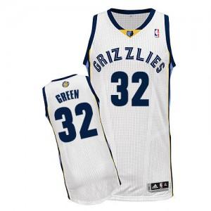 Memphis Grizzlies Jeff Green #32 Home Authentic Maillot d'équipe de NBA - Blanc pour Homme