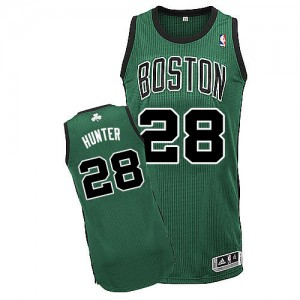 Maillot NBA Vert (No. noir) R.J. Hunter #28 Boston Celtics Alternate Authentic Homme Adidas