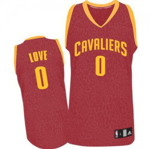 Maillot Adidas Rouge Crazy Light Swingman Cleveland Cavaliers - Kevin Love #0 - Homme
