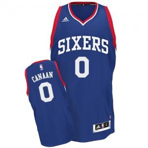 Maillot Adidas Bleu royal Alternate Swingman Philadelphia 76ers - Isaiah Canaan #0 - Homme
