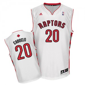 Maillot Swingman Toronto Raptors NBA Home Blanc - #20 Bruno Caboclo - Homme