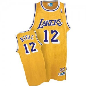 Maillot Adidas Or Throwback Authentic Los Angeles Lakers - Vlade Divac #12 - Homme