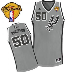 San Antonio Spurs #50 Adidas Alternate Finals Patch Gris argenté Swingman Maillot d'équipe de NBA pas cher - David Robinson pour Homme