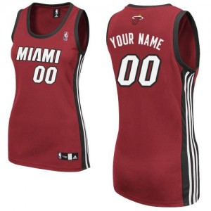 Maillot Miami Heat NBA Alternate Rouge - Personnalisé Authentic - Femme