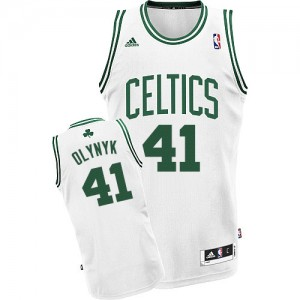 Maillot NBA Boston Celtics #41 Kelly Olynyk Blanc Adidas Swingman Home - Homme