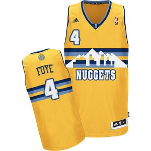 Maillot NBA Denver Nuggets #4 Randy Foye Or Adidas Swingman Alternate - Homme
