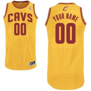 Maillot NBA Cleveland Cavaliers Personnalisé Authentic Or Adidas Alternate - Enfants