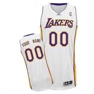 Los Angeles Lakers Personnalisé Adidas Alternate Blanc Maillot d'équipe de NBA en ligne pas chers - Authentic pour Homme