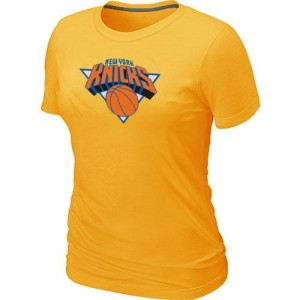 T-Shirts NBA New York Knicks Big & Tall Jaune - Femme