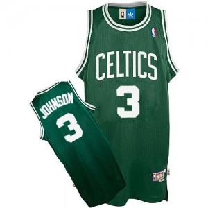 Boston Celtics Dennis Johnson #3 Throwback Authentic Maillot d'équipe de NBA - Vert pour Homme