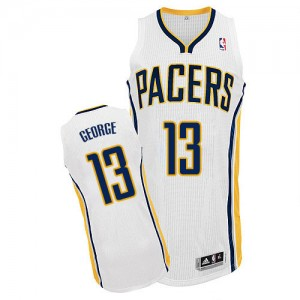 Maillot NBA Blanc Paul George #13 Indiana Pacers Home Authentic Homme Adidas