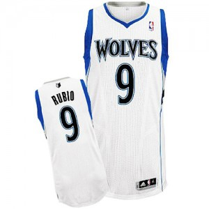 Maillot Authentic Minnesota Timberwolves NBA Home Blanc - #9 Ricky Rubio - Enfants