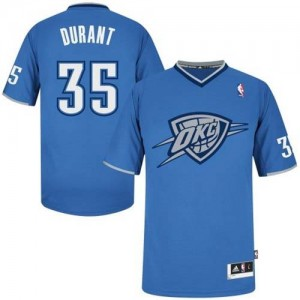 Maillot NBA Authentic Kevin Durant #35 Oklahoma City Thunder 2013 Christmas Day Bleu - Homme