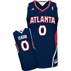 Atlanta Hawks #0 Adidas Road Bleu marin Swingman Maillot d'équipe de NBA prix d'usine en ligne - Jeff Teague pour Homme