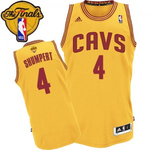 Maillot Authentic Cleveland Cavaliers NBA Alternate 2015 The Finals Patch Or - #4 Iman Shumpert - Homme