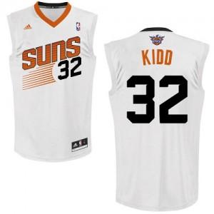 Maillot NBA Blanc Jason Kidd #32 Phoenix Suns Home Swingman Homme Adidas