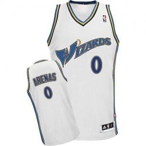 Washington Wizards #0 Adidas Blanc Authentic Maillot d'équipe de NBA Vente - Gilbert Arenas pour Homme