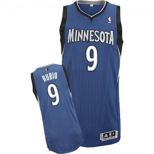 Maillot Authentic Minnesota Timberwolves NBA Road Slate Blue - #9 Ricky Rubio - Enfants