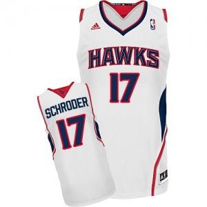 Atlanta Hawks #17 Adidas Home Blanc Swingman Maillot d'équipe de NBA en ligne pas chers - Dennis Schroder pour Homme