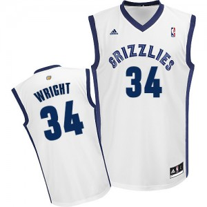 Maillot Adidas Blanc Home Swingman Memphis Grizzlies - Brandan Wright #34 - Homme