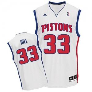 Detroit Pistons #33 Adidas Home Blanc Swingman Maillot d'équipe de NBA Le meilleur cadeau - Grant Hill pour Homme