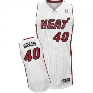 Miami Heat Udonis Haslem #40 Home Authentic Maillot d'équipe de NBA - Blanc pour Homme