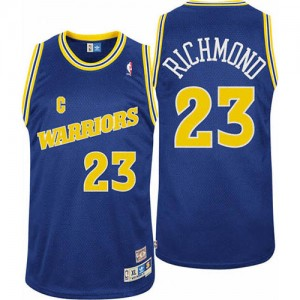 Maillot Authentic Golden State Warriors NBA Throwback Bleu - #23 Mitch Richmond - Homme