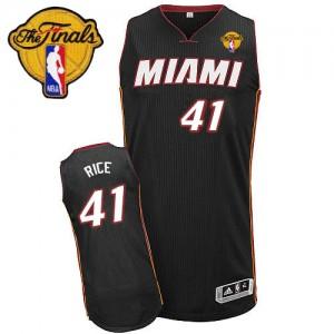 Miami Heat #41 Adidas Road Finals Patch Noir Authentic Maillot d'équipe de NBA pas cher - Glen Rice pour Homme