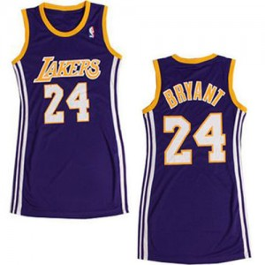 Maillot NBA Violet Kobe Bryant #24 Los Angeles Lakers Dress Authentic Femme Adidas